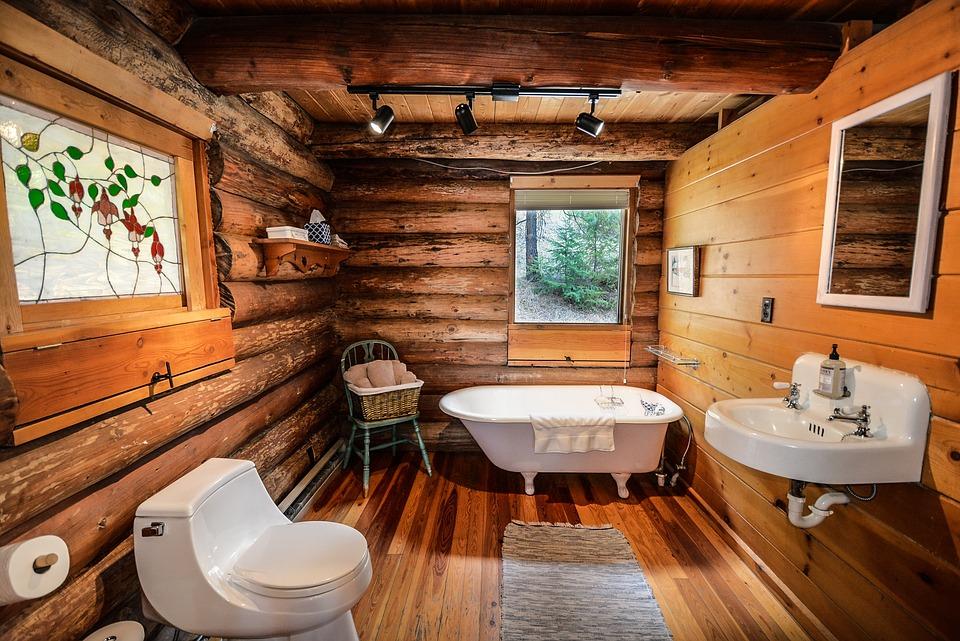 Salle de bain vintage : le bois dans tous ses états