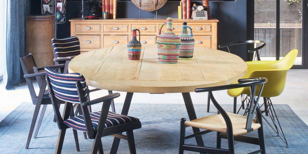 Table vintage comme élément principal de salle à manger, comment faire ?